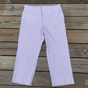 Ann Taylor LOFT Lavender pinstripe Capri jeans
